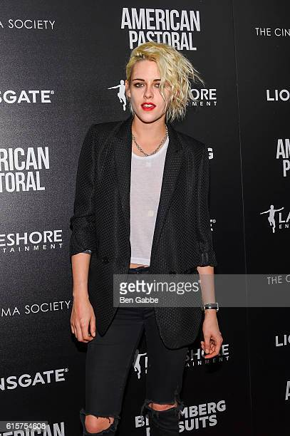 Actress Kristen Stewart attends a screening of American Pastoral at the Museum of Modern Art on October 19 2016 in New York City