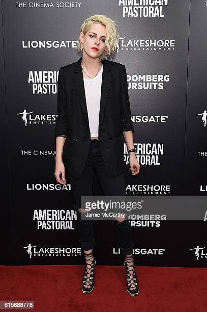 Actress Kristen Stewart attends a screening of American Pastoral hosted by Lionsgate Lakeshore Entertainment and Bloomberg Pursuits at Museum of...
