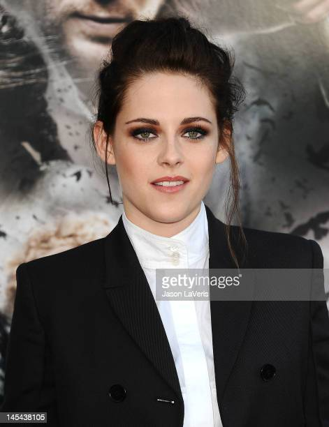 """Actress Kristen Stewart attends a screening of """"Snow White and The Huntsman"""" at Westwood Village on May 29, 2012 in Los Angeles, California."""