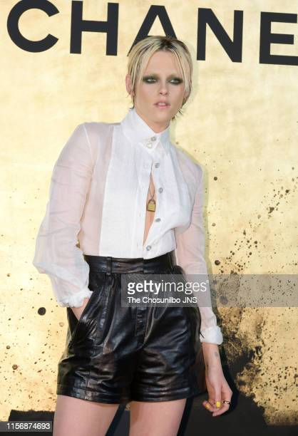 Actress Kristen Stewart attends CHANEL ParisNew York 2018'19 Metiers d'Art show on May 28 2019 in Seoul South Korea