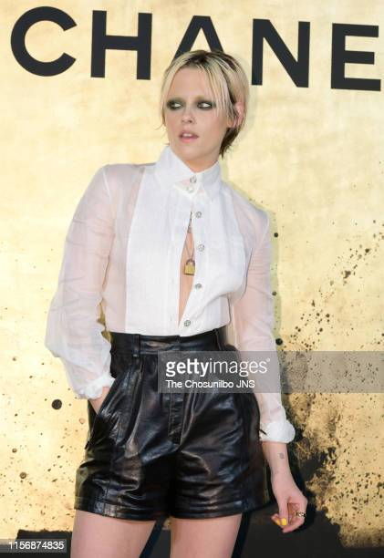 Actress Kristen Stewart attends CHANEL Paris-New York 2018'19 Metiers d'Art show on May 28, 2019 in Seoul, South Korea.