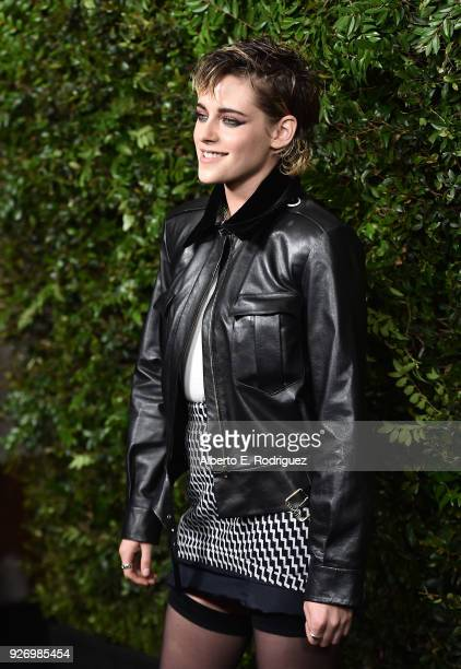 Actress Kristen Stewart attends Charles Finch and Chanel's PreOscar Awards Dinner at Madeo Restaurant on March 3 2018 in Los Angeles California
