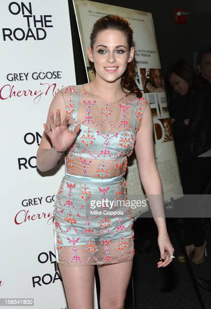 Actress Kristen Stewart attends 'On The Road' New York Premiere at SVA Theater on December 13 2012 in New York City