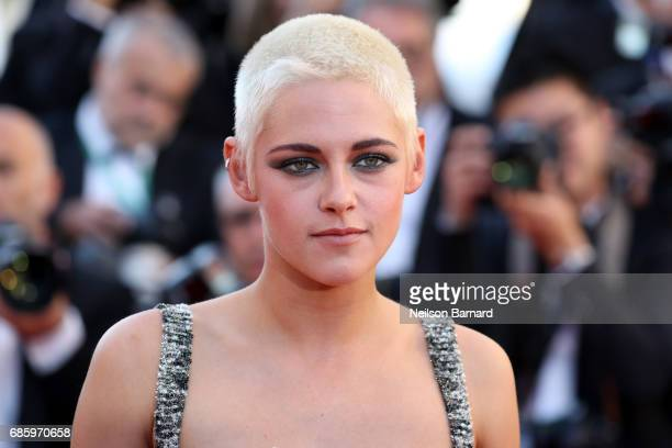 "Actress Kristen Stewart attends the ""120 Beats Per Minute "" screening during the 70th annual Cannes Film Festival at Palais des Festivals on May 20,..."