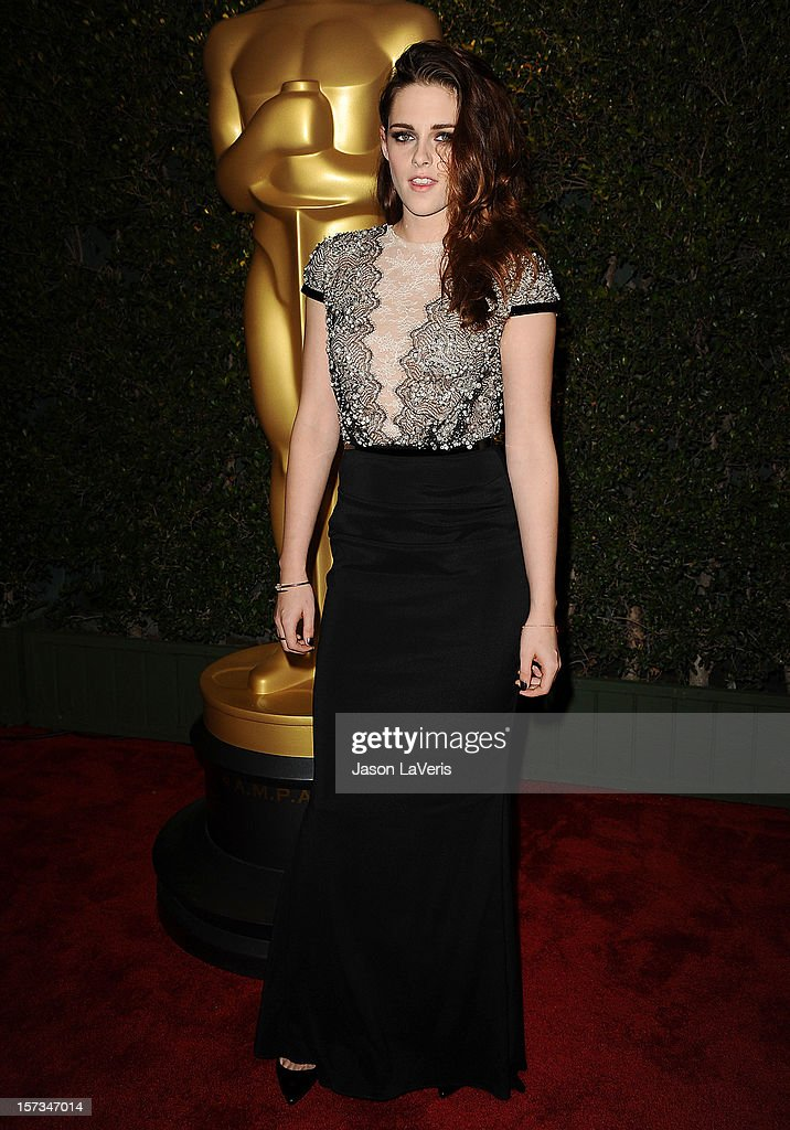 Actress Kristen Stewart attends the Academy of Motion Pictures Arts and Sciences' 4th annual Governors Awards at The Ray Dolby Ballroom at Hollywood & Highland Center on December 1, 2012 in Hollywood, California.