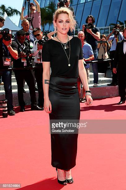 Actress Kristen Stewart attends the 'American Honey' premiere during the 69th annual Cannes Film Festival at the Palais des Festivals on May 15 2016...