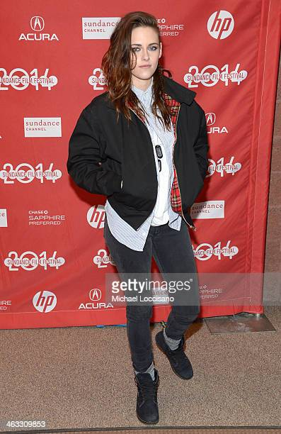 Actress Kristen Stewart attends the Camp XRay premiere at Eccles Center Theatre during the 2014 Sundance Film Festival on January 17 2014 in Park...