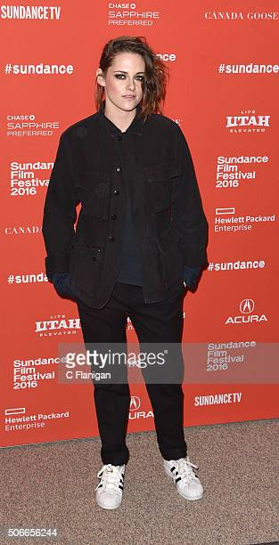 Actress Kristen Stewart attends the 'Certain Women' Premiere during the 2016 Sundance Film Festival at Eccles Center Theatre on January 24 2016 in...