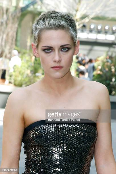 Actress Kristen Stewart attends the Chanel Haute Couture Fall/Winter 20172018 show as part of Haute Couture Paris Fashion Week on July 4 2017 in...