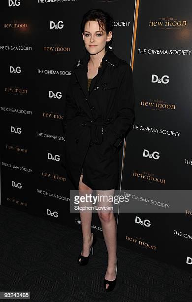 Actress Kristen Stewart attends THE CINEMA SOCIETY and DG screening of THE TWILIGHT SAGA NEW MOON at Landmark's Sunshine Cinema on November 19 2009...
