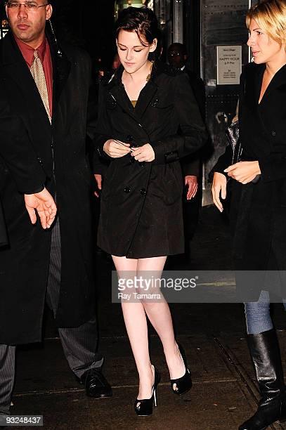 Actress Kristen Stewart attends The Cinema Society and DG screening of 'The Twilight Saga New Moon' at Landmark's Sunshine Cinema on November 19 2009...