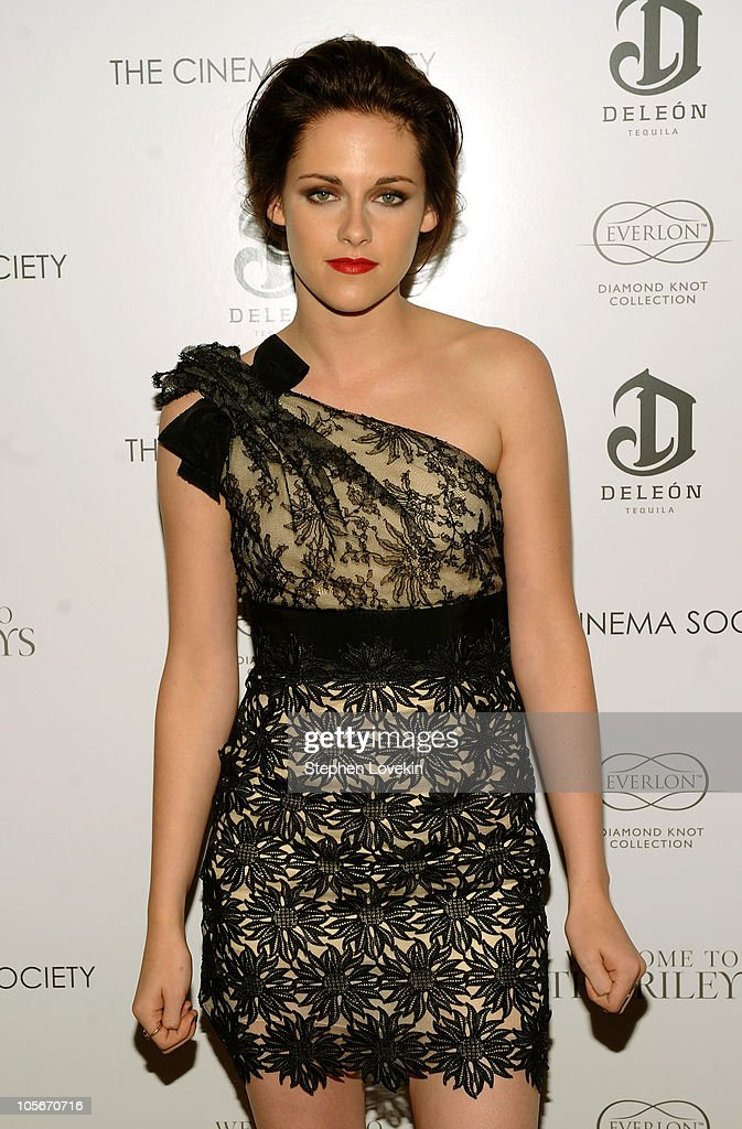 Actress Kristen Stewart attends The Cinema Society & Everlon Diamond Knot Collection's screening of 'Welcome To The Rileys' on October 18, 2010 at the Tribeca Grand Hotel in New York City.