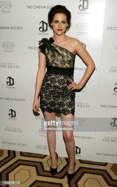 Actress Kristen Stewart attends The Cinema Society Everlon Diamond Knot Collection's screening of Welcome To The Rileys on October 18 2010 at the...