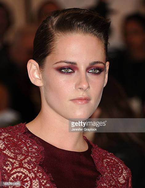 Actress Kristen Stewart attends the Costume Institute Gala for the 'PUNK Chaos to Couture' exhibition at the Metropolitan Museum of Art on May 6 2013...