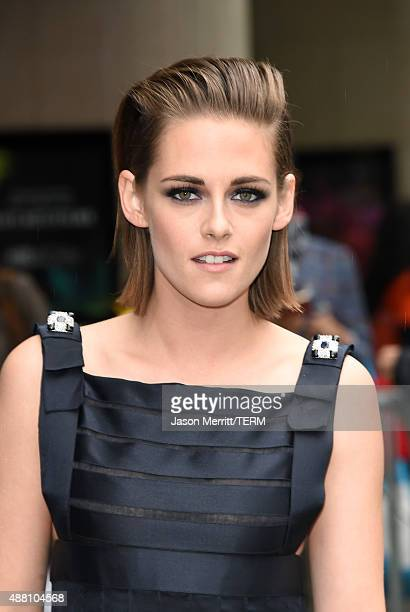 Actress Kristen Stewart attends the 'Equals' premiere during the 2015 Toronto International Film Festival at the Princess of Wales Theatre on...