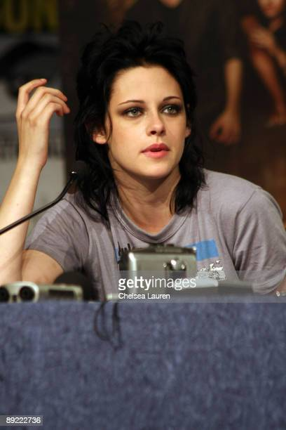 Actress Kristen Stewart attends the New Moon Press Conference at Hilton San Diego Bayfront Hotel on July 23 2009 in San Diego California