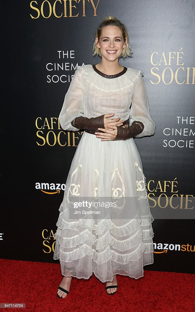 Actress Kristen Stewart attends the New York premiere of 'Cafe Society' hosted by Amazon & Lionsgate with The Cinema Society at Paris Theatre on July 13, 2016 in New York City.
