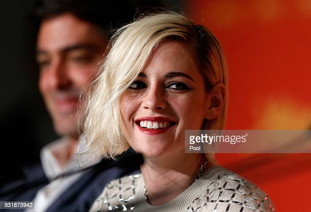 Actress Kristen Stewart attends the 'Personal Shopper' press conference during the 69th annual Cannes Film Festival at the Palais des Festivals on...