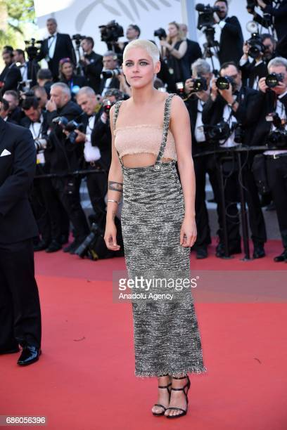 Actress Kristen Stewart attends the screening of '120 Beats Per Minute' in competition at the 70th annual Cannes Film Festival in Cannes, France on...