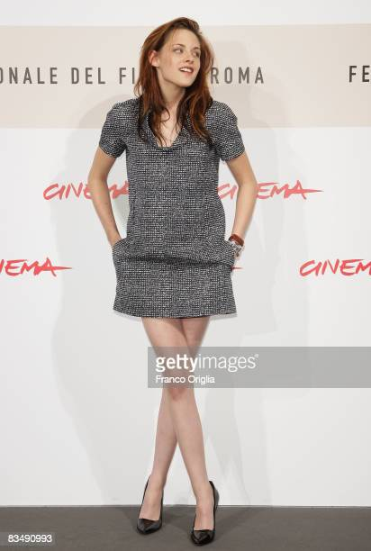 Actress Kristen Stewart attends the 'Twilight' Photocall during the 3rd Rome International Film Festival held at the Auditorium Parco della Musica on...