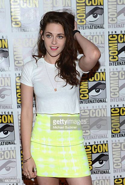 Actress Kristen Stewart attends The Twilight Saga Breaking Dawn Part 2 during ComicCon International 2012 at San Diego Convention Center on July 12...