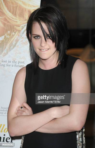Actress Kristen Stewart attends The Yellow Handkerchief Los Angeles premiere at Pacific Design Center on February 18 2010 in West Hollywood California