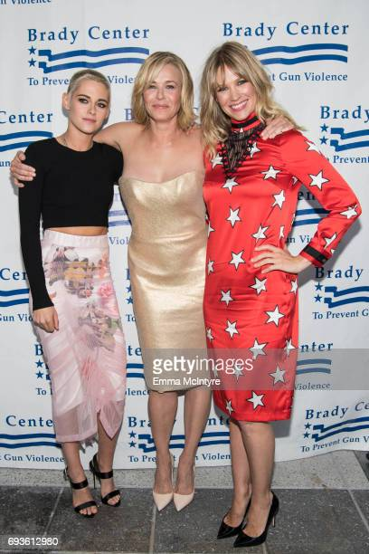 Actress Kristen Stewart, comedian Chelsea Handler, and actress January Jones attend the Brady Center's Bear Awards Gala at NeueHouse Hollywood on...