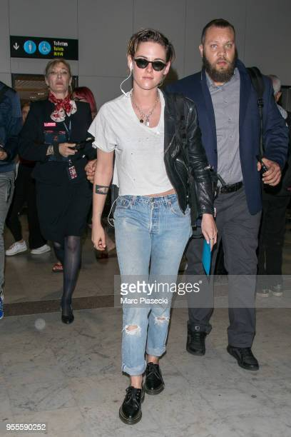 Actress Kristen Stewart is seen during the 71st annual Cannes Film Festival at Nice Airport on May 7 2018 in Nice France