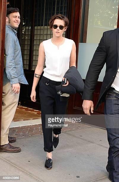 Actress Kristen Stewart is seen in Soho on October 8 2014 in New York City