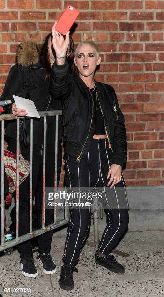 Actress Kristen Stewart is seen leaving the 'Personal Shopper' premiere at Metrograph on March 9 2017 in New York City