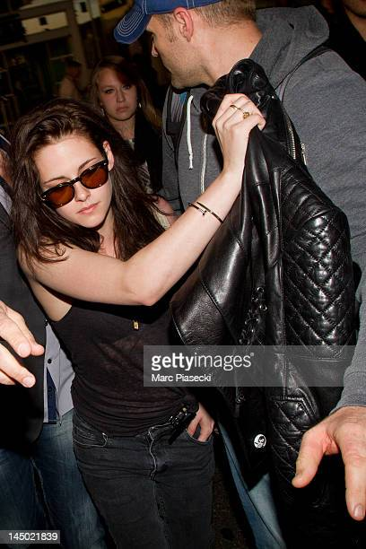Actress Kristen Stewart is sighted at Nice airport on May 22, 2012 in Nice, France.