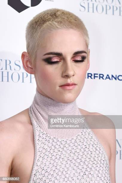 Actress Kristen Stewart makeup detail attends the 'Personal Shopper' premiere at Metrograph on March 9 2017 in New York City