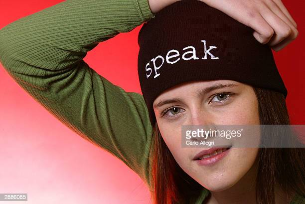 Actress Kristen Stewart of the film 'Speak' poses for portraits during the 2004 Sundance Film Festival on January 20 2004 in Park City Utah