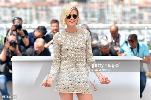 TOPSHOT US actress Kristen Stewart poses on May 17 2016 during a photocall for the film 'Personal Shopper' at the 69th Cannes Film Festival in Cannes...