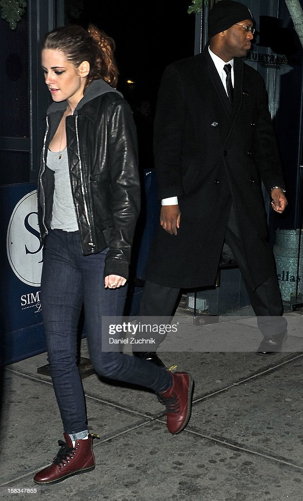 Actress Kristen Stewart seen leaving Abe & Arthur's on December 13, 2012 in New York City.