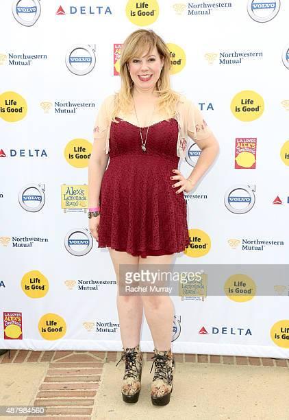 Actress Kristen Vangsness attends LA Loves Alex's Lemonade on September 12 2015 in Los Angeles California