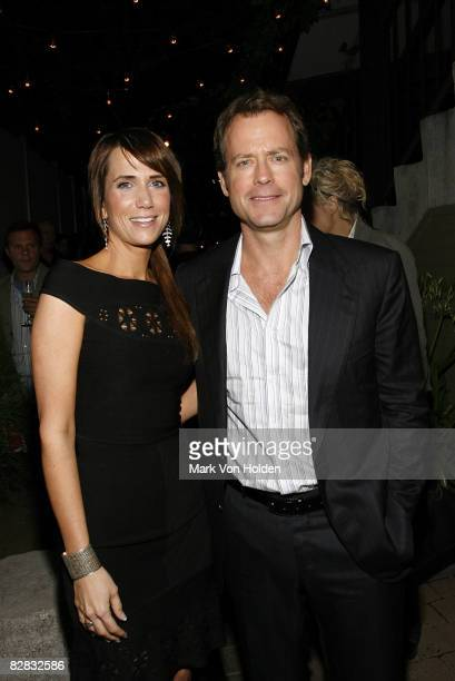 Actress Kristen Wiig and Greg Kinnear attend the after party for Ghost Town at the Soho Grand Hotel on September 15 2008 in New York City