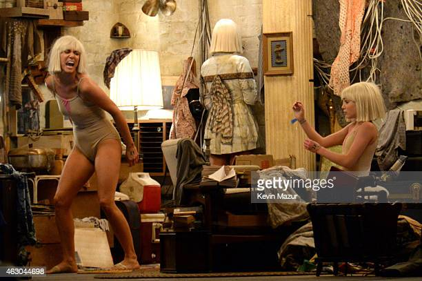 Actress Kristen Wiig and Maddie Ziegler perform onstage during the 57th Annual GRAMMY Awards at STAPLES Center on February 8 2015 in Los Angeles...
