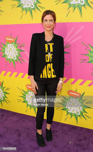Actress Kristen Wiig arrives at Nickelodeon's 26th Annual Kids' Choice Awards at USC Galen Center on March 23 2013 in Los Angeles California