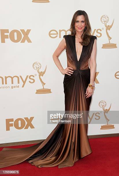 Actress Kristen Wiig arrives at the 63rd Annual Primetime Emmy Awards held at Nokia Theatre LA LIVE on September 18 2011 in Los Angeles California