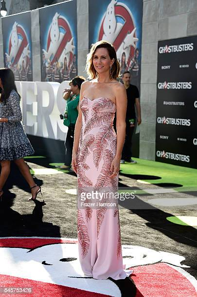 """Actress Kristen Wiig arrives at the Premiere of Sony Pictures' """"Ghostbusters"""" at TCL Chinese Theatre on July 9, 2016 in Hollywood, California."""