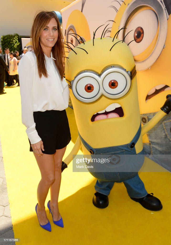 Actress Kristen Wiig (L) arrives at the premiere of Universal Pictures' 'Despicable Me 2' at Gibson Amphitheatre on June 22, 2013 in Universal City, California.