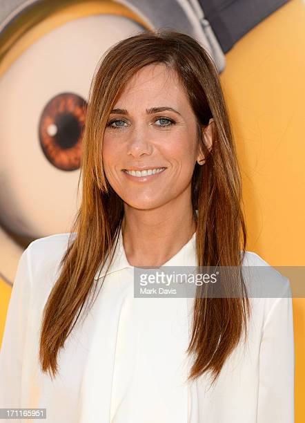 Actress Kristen Wiig arrives at the premiere of Universal Pictures' Despicable Me 2 at Gibson Amphitheatre on June 22 2013 in Universal City...