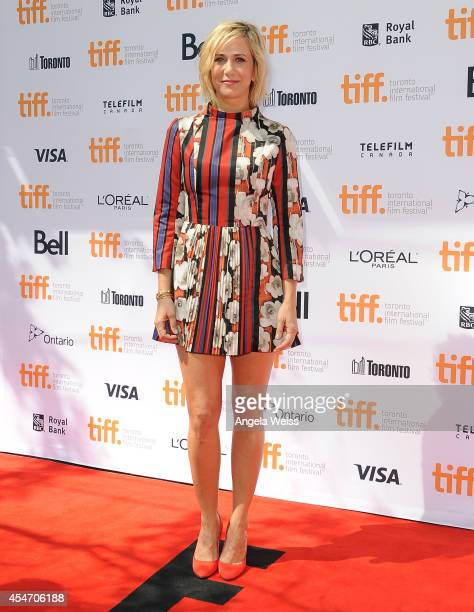 Actress Kristen Wiig arrives at the Welcome To Me Premiere during the 2014 Toronto International Film Festival at Princess of Wales Theatre on...