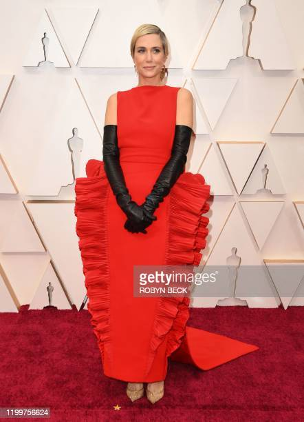 US actress Kristen Wiig arrives for the 92nd Oscars at the Dolby Theatre in Hollywood California on February 9 2020
