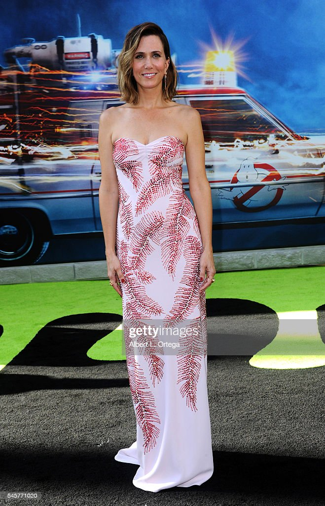 Actress Kristen Wiig arrives for the Premiere Of Sony Pictures' 'Ghostbusters' held at TCL Chinese Theatre on July 9, 2016 in Hollywood, California.