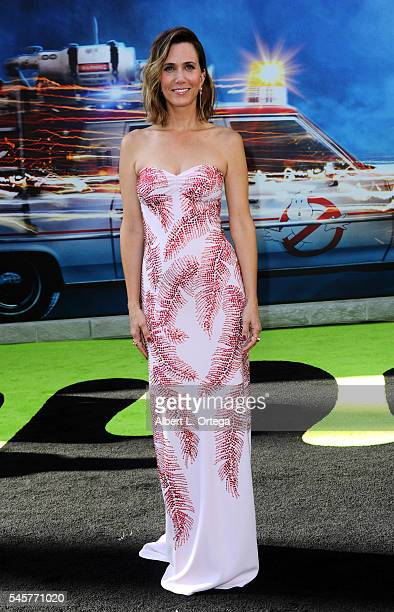 """Actress Kristen Wiig arrives for the Premiere Of Sony Pictures' """"Ghostbusters"""" held at TCL Chinese Theatre on July 9, 2016 in Hollywood, California."""
