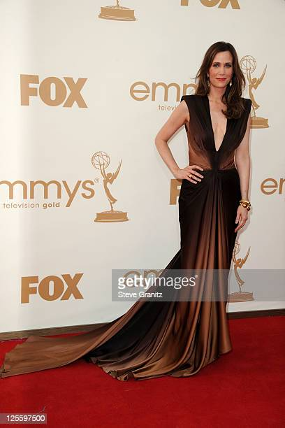 Actress Kristen Wiig arrives to the 63rd Primetime Emmy Awards at the Nokia Theatre LA Live on September 18 2011 in Los Angeles United States