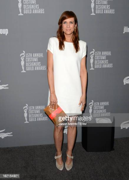 Actress Kristen Wiig attends the 15th Annual Costume Designers Guild Awards with presenting sponsor Lacoste at The Beverly Hilton Hotel on February...