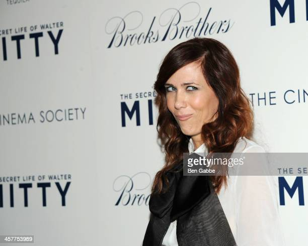 """Actress Kristen Wiig attends the 20th Century Fox with The Cinema Society & Brooks Brothers screening of """"The Secret Life of Walter Mitty"""" at The..."""